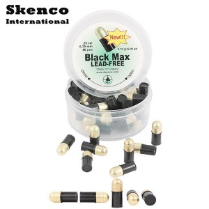 Air gun pellets SKENCO BLACK MAX 50PCS 6.35mm (.25)