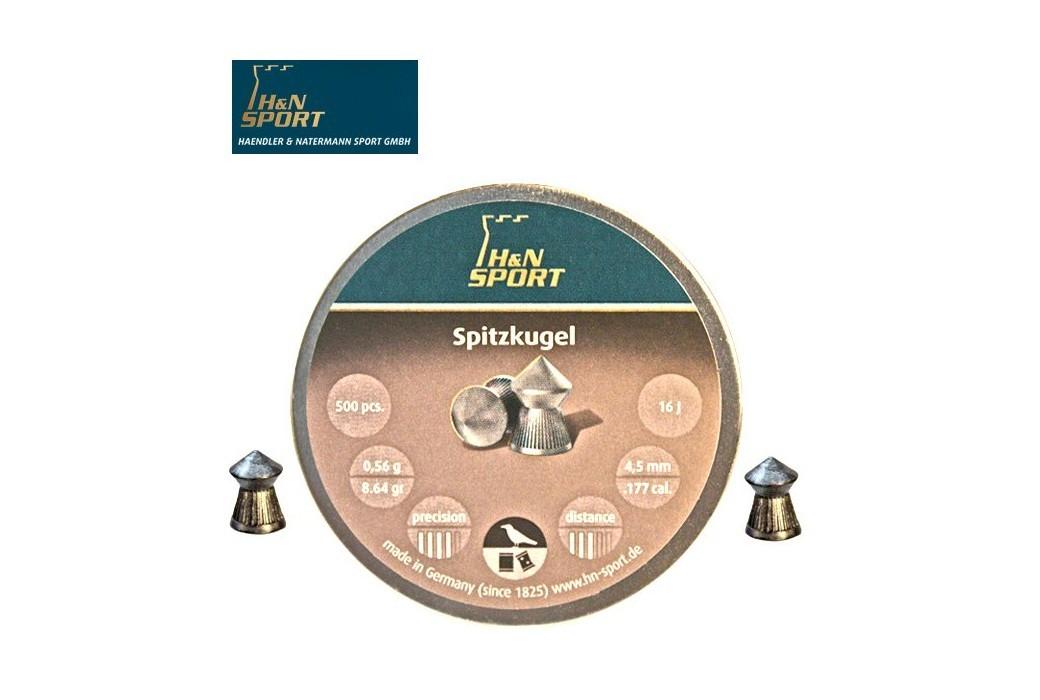 MUNITIONS H & N SPITZKUGEL 4.50mm (.177) 500PCS