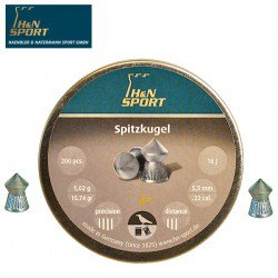 BALINES H & N SPITZKUGEL 5.50mm (.22) 200PCS