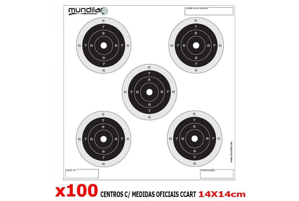 AIR GUN COMP. TARGETS 100pcs