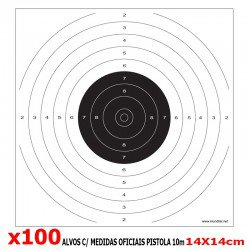 ALVOS COMP. PISTOLA 10m 100pcs 14X14CM