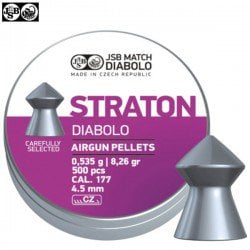 MUNITIONS JSB STRATON ORIGINAL 500pcs 4.50mm (.177)