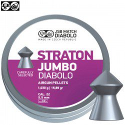 MUNITIONS JSB STRATON JUMBO ORIGINAL 250pcs 5.50mm (.22)