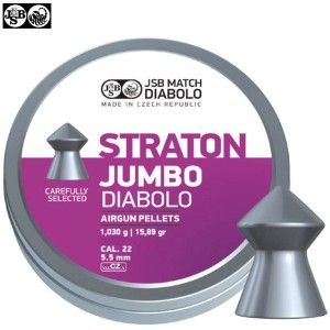 MUNITIONS JSB STRATON JUMBO ORIGINAL 250pcs 5.50mm (.22)