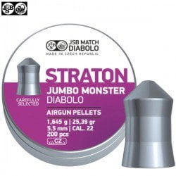 MUNITIONS JSB STRATON MONSTER JUMBO ORIGINAL 200pcs 5.51mm (.22)