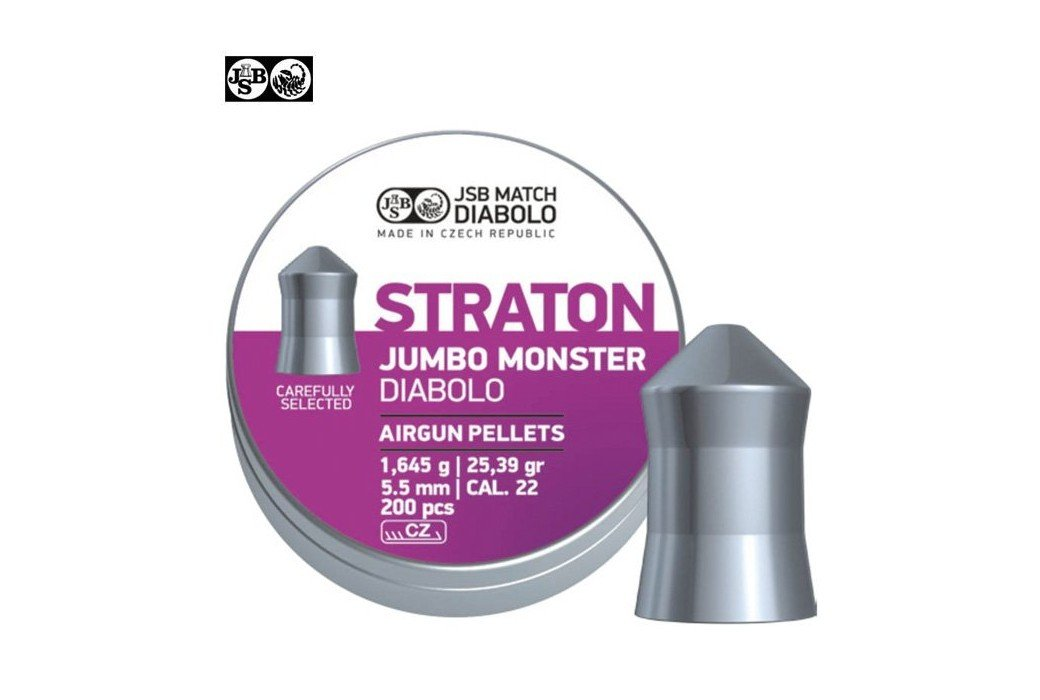 MUNITIONS JSB STRATON MONSTER ORIGINAL 200pcs 5.51mm (.22)