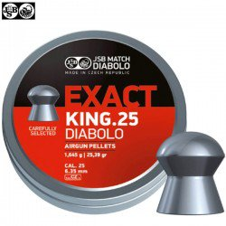 MUNITIONS JSB EXACT KING ORIGINAL 150pcs 6.35mm (.25)