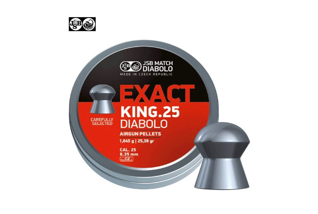 BALINES JSB EXACT KING ORIGINAL 150pcs 6.35mm (.25)