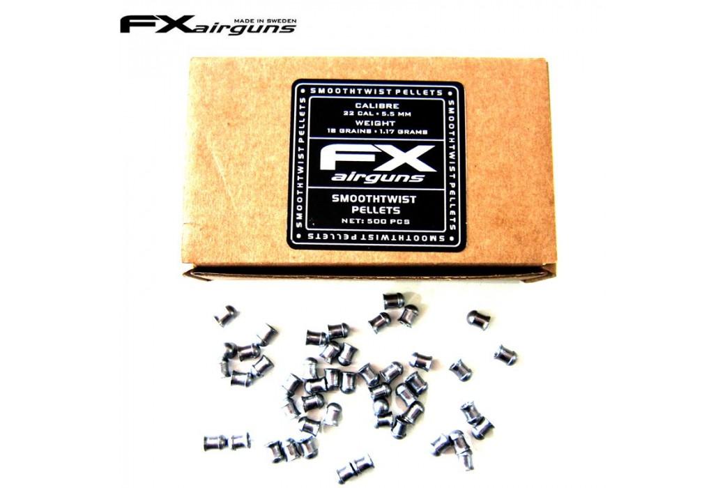BALINES FX SMOOTH TWIST PELLETS 18 gr 500pcs 5.50mm (.22)