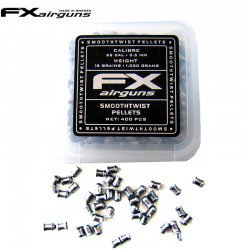 MUNITIONS FX SMOOTH TWIST PELLETS 16 gr 400pcs 5.50mm (.22)