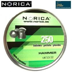 MUNITIONS NORICA HAMMER 5.50mm (.22) 250PCS