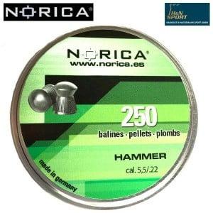 Air gun pellets NORICA HAMMER 5.50mm (.22) 250PCS
