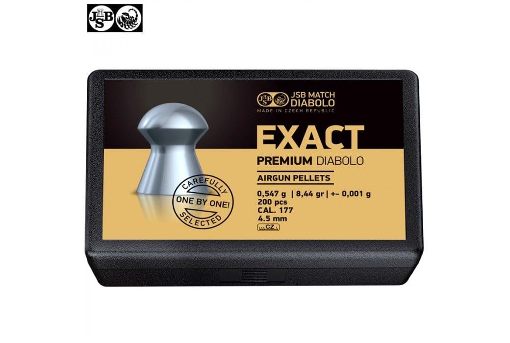 BALINES JSB EXACT PREMIUM DIABOLO 200pcs 4.52mm (.177)