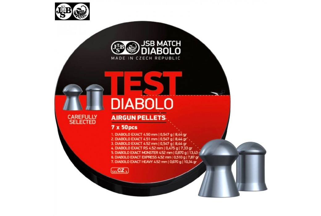 CHUMBO JSB EXACT TEST DIABOLO 350pcs 4.50mm (.177)
