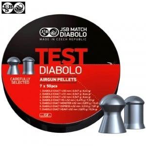 Air gun pellets JSB EXACT TEST DIABOLO 350pcs 4.50mm (.177)