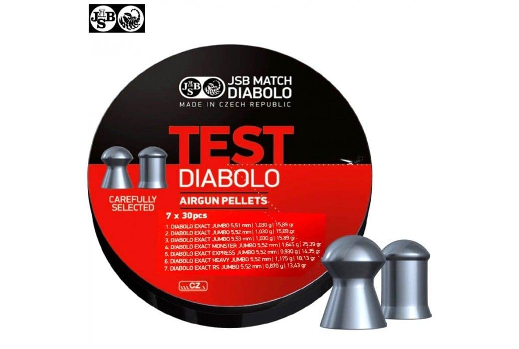 MUNITIONS JSB EXACT TEST DIABOLO 210pcs 5.50mm (.22)
