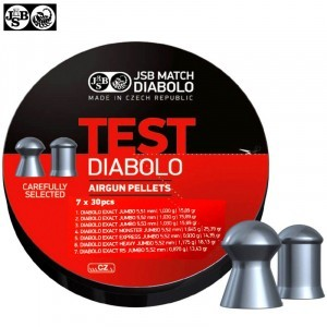 CHUMBO JSB EXACT TEST DIABOLO 210pcs 5.50mm (.22)