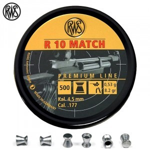 BALINES RWS R10 MATCH CARABINA 4.49mm (.177) 500PCS