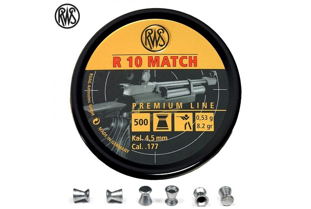 MUNITIONS RWS R10 MATCH CARABINE 4.50mm (.177) 500PCS