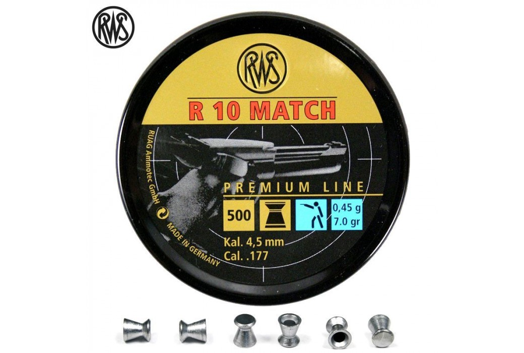 CHUMBO RWS R10 MATCH PISTOLA 4.48mm (.177) 500PCS