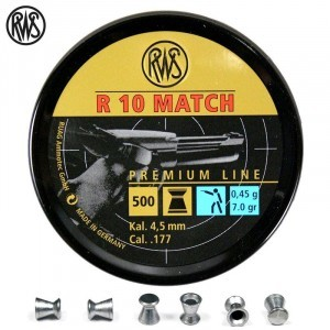 BALINES RWS R10 MATCH PISTOLA 4.49mm (.177) 500PCS