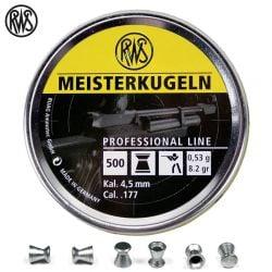 BALINES RWS MEISTERKUGELN CARABINA 4.50mm (.177) 500PCS