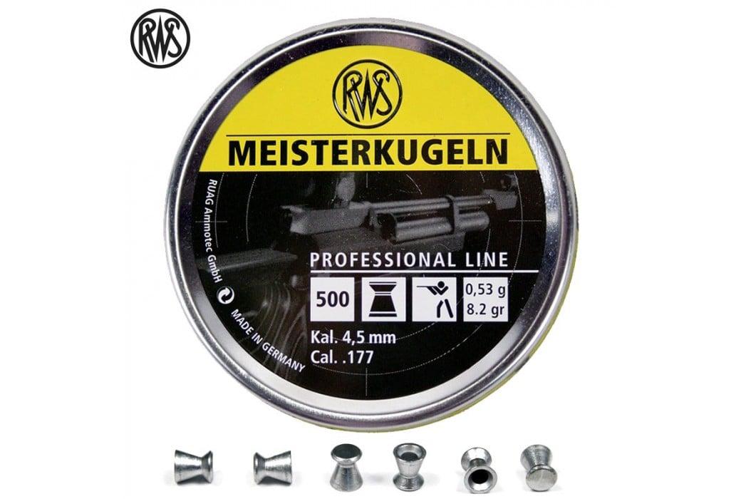 MUNITIONS RWS MEISTERKUGELN CARABINE 4.50mm (.177) 500PCS