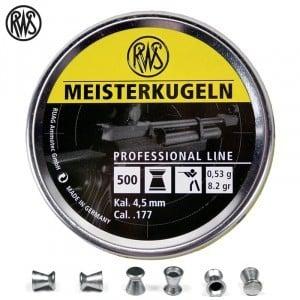 Air gun pellets RWS MEISTERKUGELN RIFLE 4.50mm (.177) 500PCS