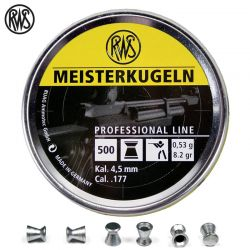 BALINES RWS MEISTERKUGELN CARABINA 4.49mm (.177) 500PCS