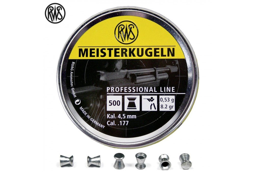 Air gun pellets RWS MEISTERKUGELN RIFLE 4.48mm (.177) 500PCS