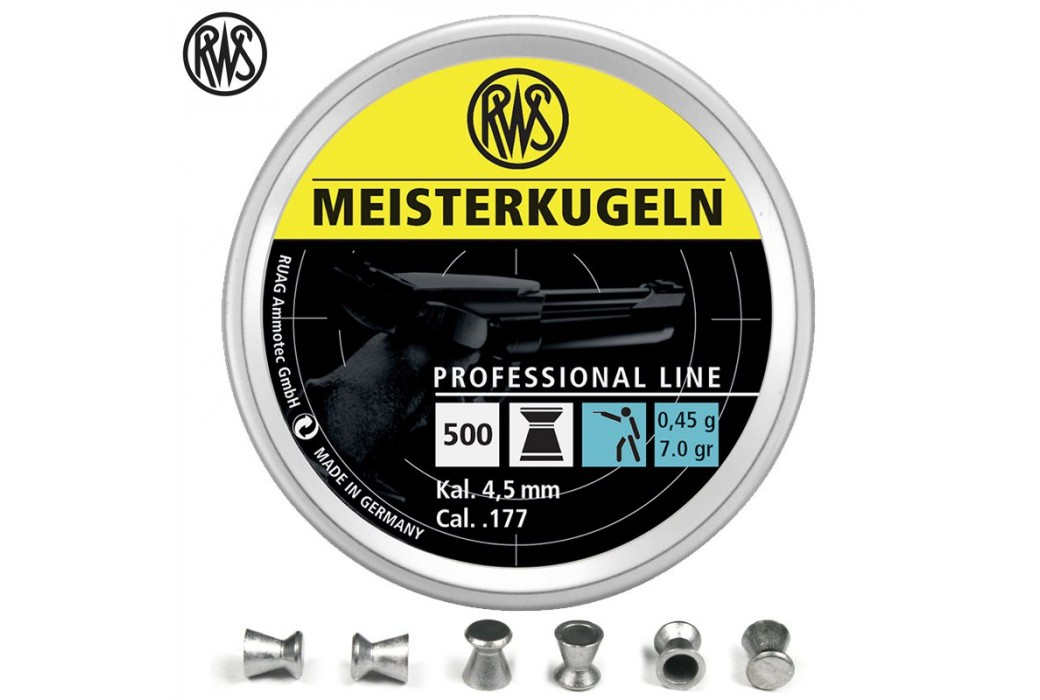BALINES RWS MEISTERKUGELN PISTOLA 4.49mm (.177) 500PCS