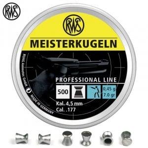 Air gun pellets RWS MEISTERKUGELN PISTOL 4.49mm (.177) 500PCS