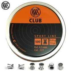 Air gun pellets RWS CLUB 4.50mm (.177) 500PCS