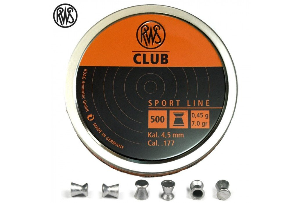 BALINES RWS CLUB 4.50mm (.177) 500PCS