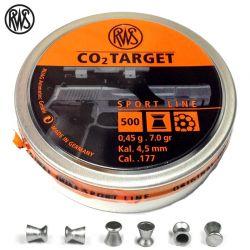 BALINES RWS CO2 TARGET 4.50mm (.177) 500PCS