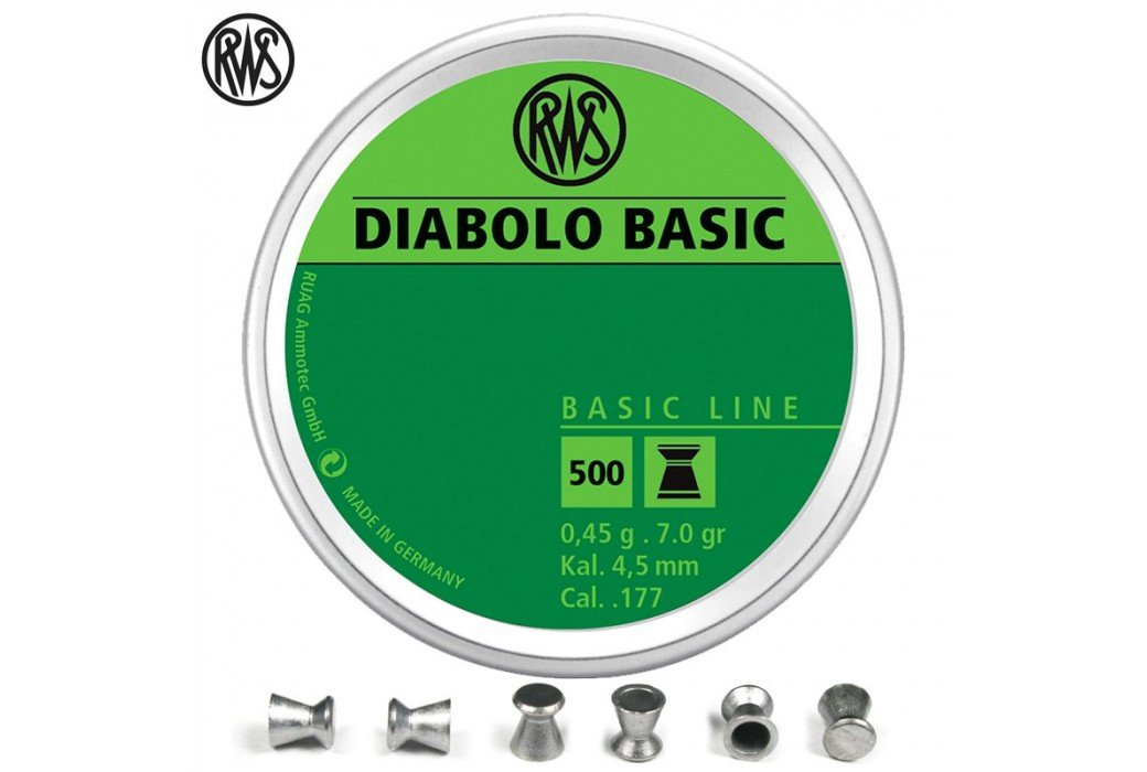 MUNITIONS RWS DIABOLO BASIC 4.50mm (.177) 500PCS
