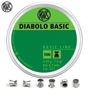BALINES RWS DIABOLO BASIC 4.50mm (.177) 500PCS