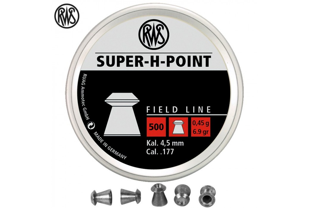 BALINES RWS SUPER H POINT 4.50mm (.177) 500PCS