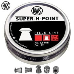 Air gun pellets RWS SUPER H POINT 500 Pcs 5,5mm (.22)