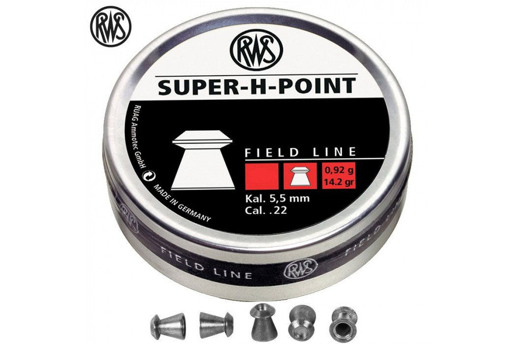 BALINES RWS SUPER H POINT 500 Pcs 5,5mm (.22)