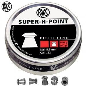 BALINES RWS SUPER H POINT 500 Pcs 5,5mm (.22)