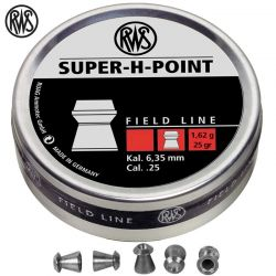 BALINES RWS SUPER H POINT 6.35mm (.25) 200pcs