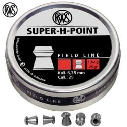 CHUMBO RWS SUPER H POINT 6.35mm (.25) 200pcs
