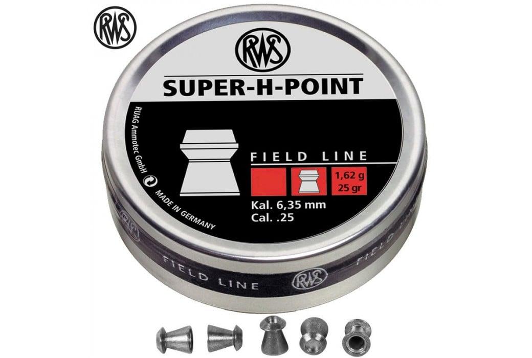 BALINES RWS SUPER H POINT 6.35mm (.25) 200pcs