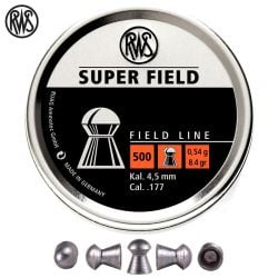 MUNITIONS RWS SUPER FIELD 4.51mm (.177) 500PCS
