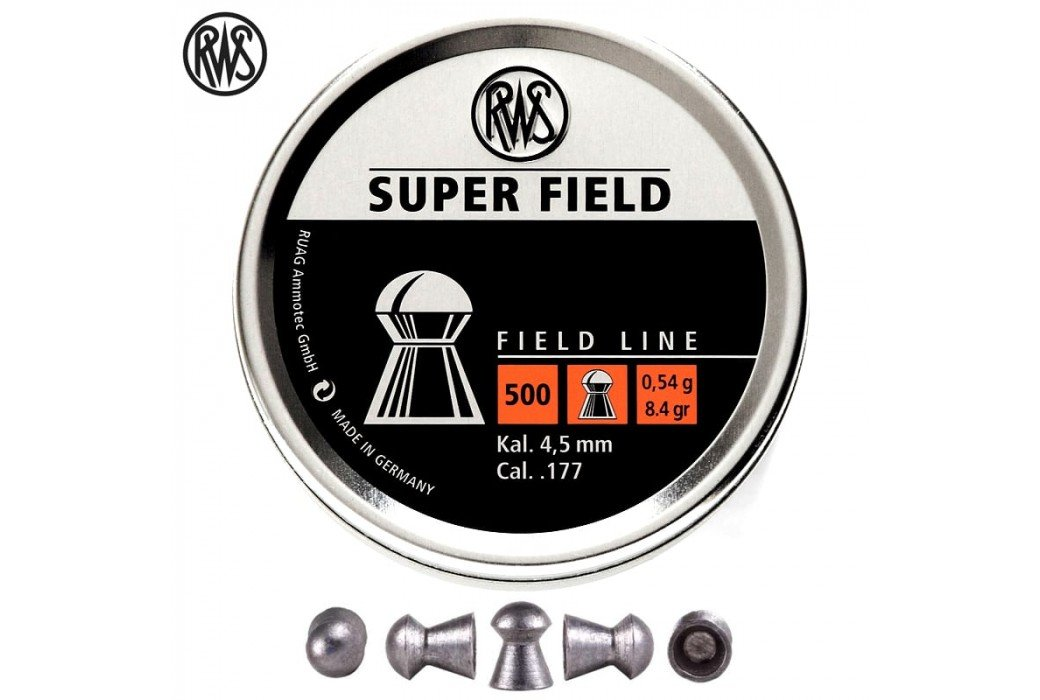 Air gun pellets RWS SUPER FIELD 4.52mm (.177) 500PCS