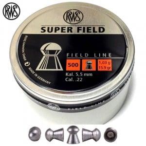 MUNITIONS RWS SUPER FIELD 5.51mm (.22) 500PCS