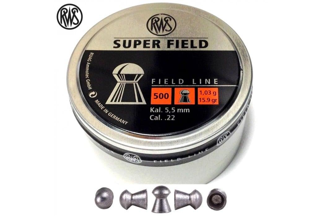MUNITIONS RWS SUPER FIELD 5.52mm (.22) 500PCS