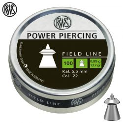 Air gun pellets RWS POWER PIERCING 5.50mm (.22) 100pcs