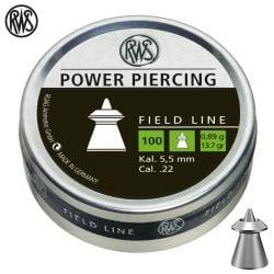 BALINES RWS POWER PIERCING 5.50mm (.22) 100pcs